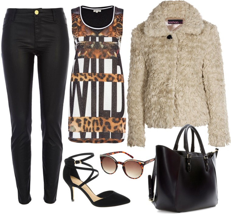 Fashion Outfit Fur and Clashing Prints