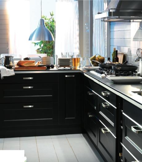 Black Kitchen 2 Ikea Ramsjo