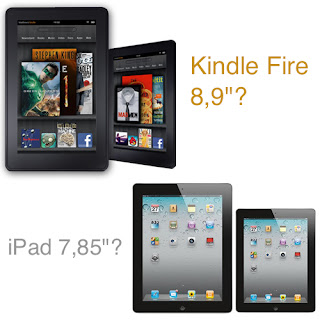 Kindle Fire 8.9 and iPad 7.85