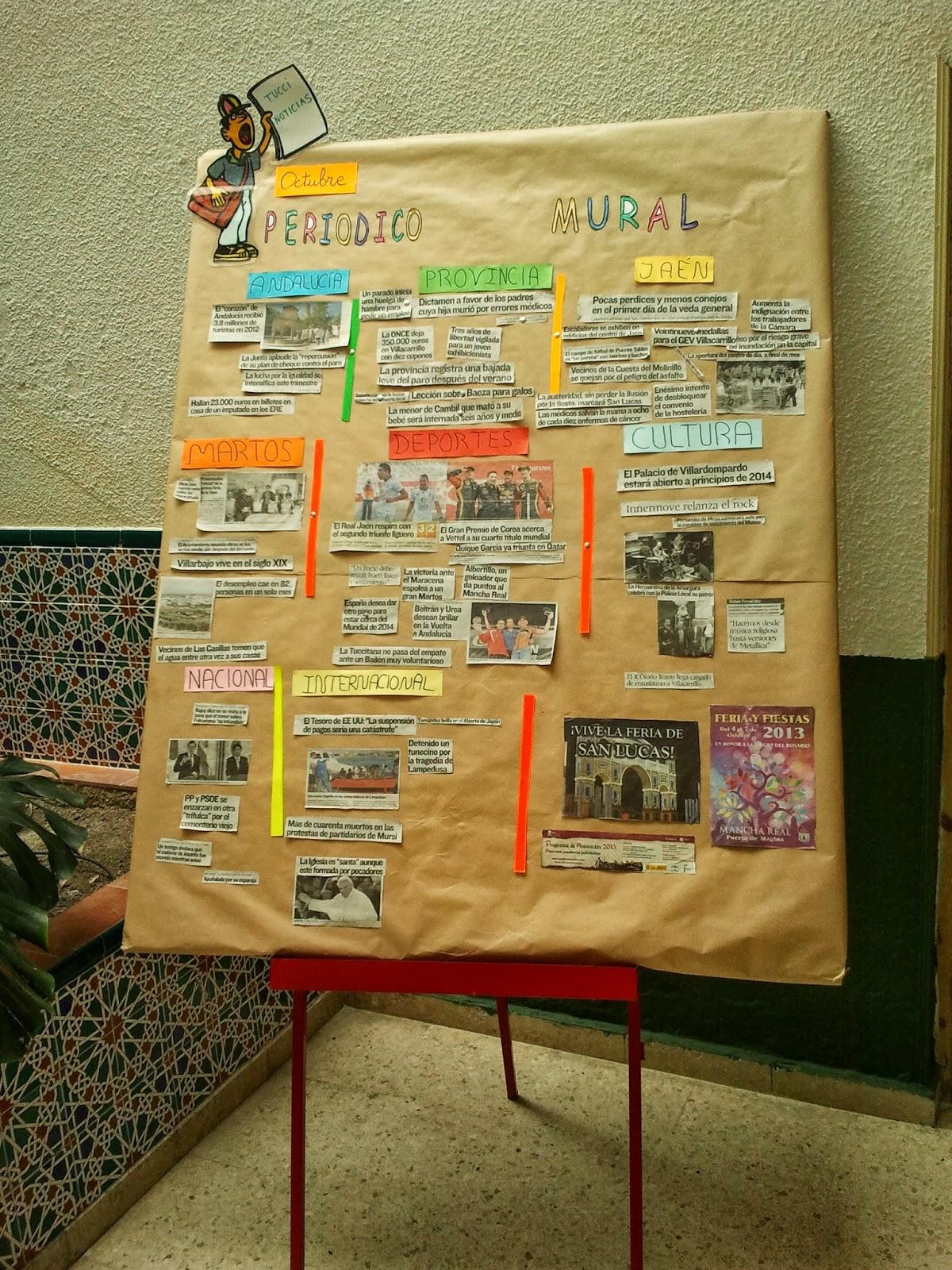 """Biblioteca Escolar """" BIBLIOTUCCI"""": EL PERIÓDICO MURAL"""