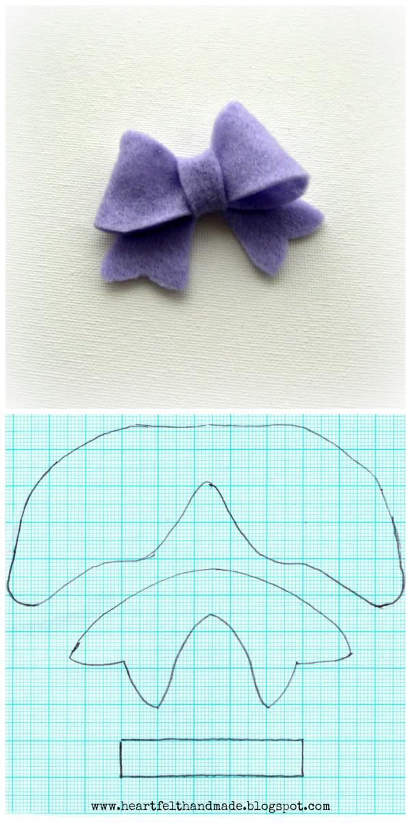 Heartfelt handmades blog tutorials felt bow template pronofoot35fo Image collections
