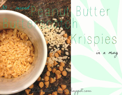 30 - Second Peanut Butter Butterscotch Krispies in a Mug {by Domestic Femme}