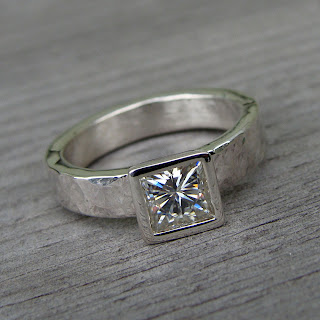 moissanite princess cut