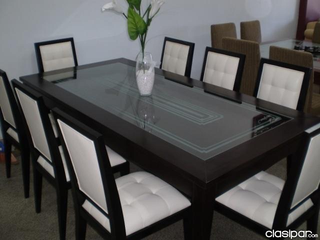 Juegos de comedor mueblesdeksa fabricantes dormitorios for Comedor 8 sillas madera