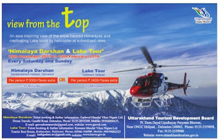 Helicopter Ride in Himalaya's and Lakes in Uttarpradesh