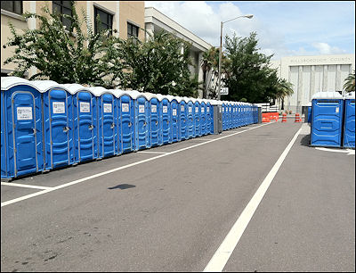 ... Of RNC Goers Will Have A Good Clean Place To Go To The Bathroom While  They Are In Downtown Tampa For The Big Week Of Events Here In South Florida.