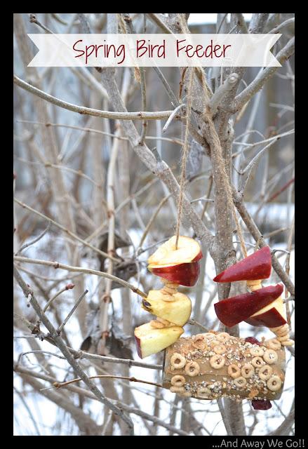 spring bird feeder, homemade bird feeder
