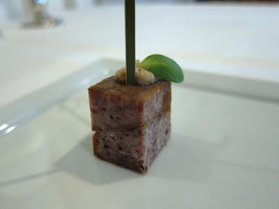 Lamb amuse at Le Papillon