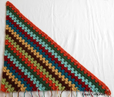 Easy Crochet Pattern Diagonal Granny Stripe Afghan Tutorial