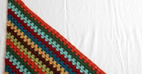 Crochet Pattern Diagonal Afghan : Easy Crochet Pattern: Diagonal Granny Stripe Afghan Tutorial