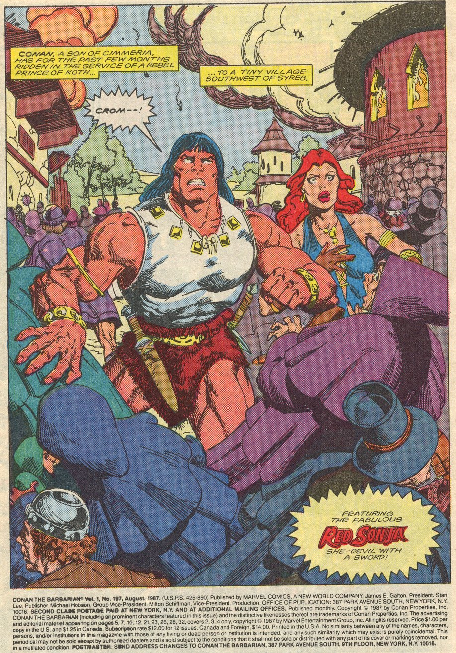 Conan the Barbarian (1970) Issue #197 #209 - English 2