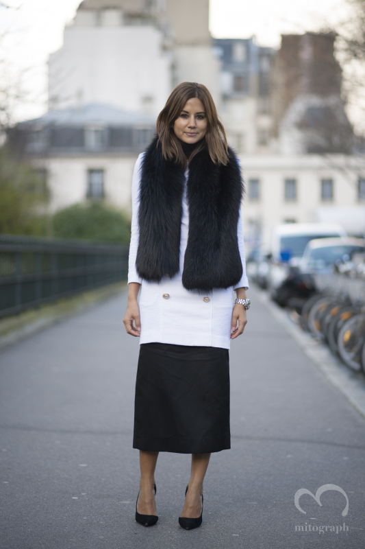 Vogue Australia's editor in Chief Christine Centenera at Paris Fashion Week after Christian Dior PFW