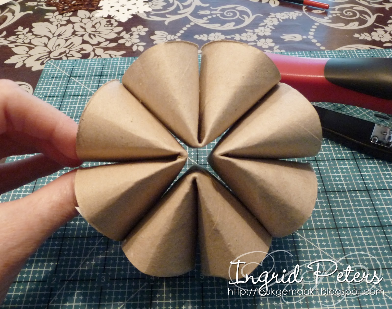 Whiff of joy tutorials inspiration recycled snowflake for Snowflake out of toilet paper rolls