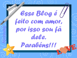 Blogue feito com amor