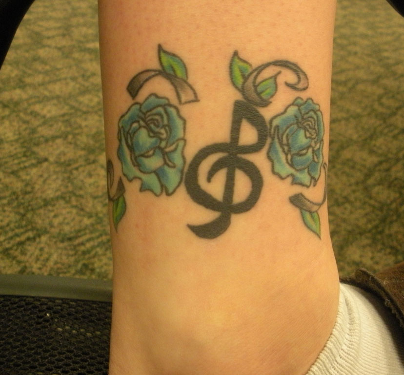 Floral Music Tattoos