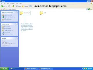 Go to jdk folder in Java