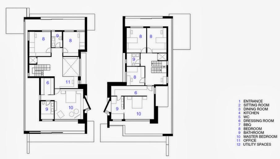 Viviendas entre medianeras planos good diseo de casa dos for Planos de viviendas modernas