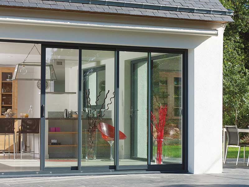 Ventanas correderas aluminio k line fabrica ventanas de for Puertas para terrazas
