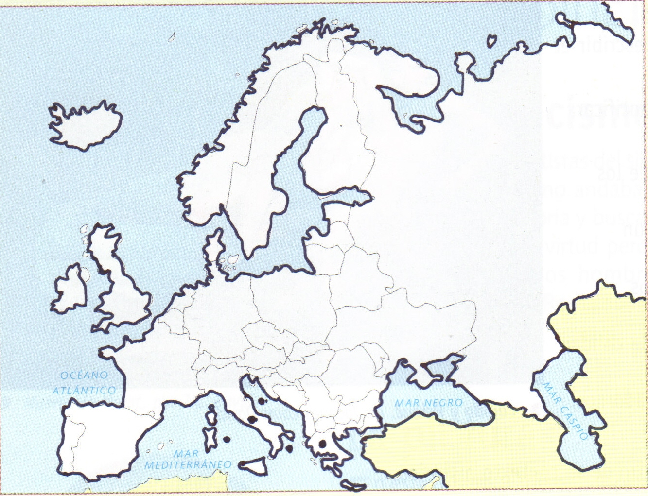 Croquis del mapa de europa - Imagui