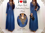 Gamis Jeans Washed Bordir SOLD OUT