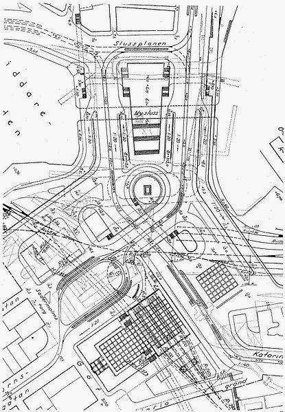 Año 1931. Masterplan Slussen