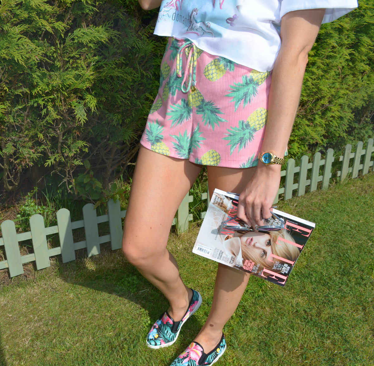 Wildfox Shorts Dom&Ink Tee