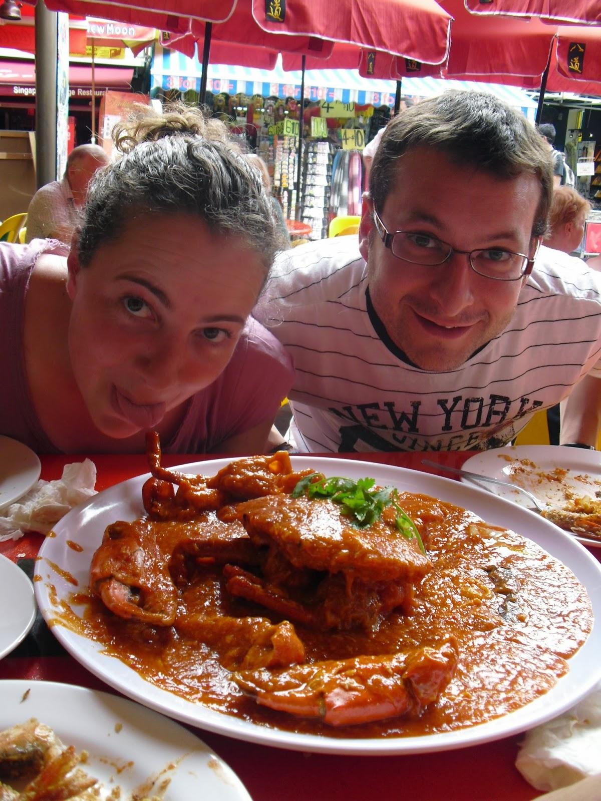 singapur, singapore cangrejo picante barrio chino