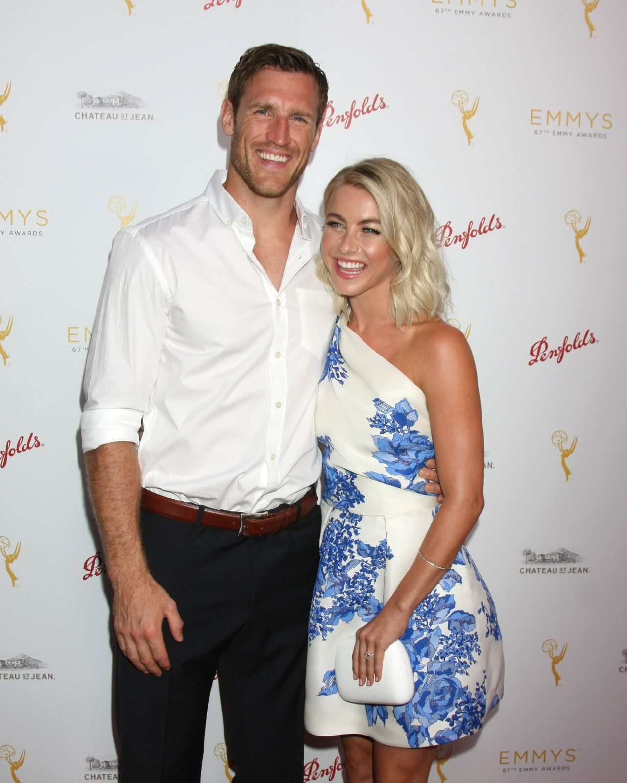 Julianne Hough made her first red carpet appearance with her fiance, Brooks Laich