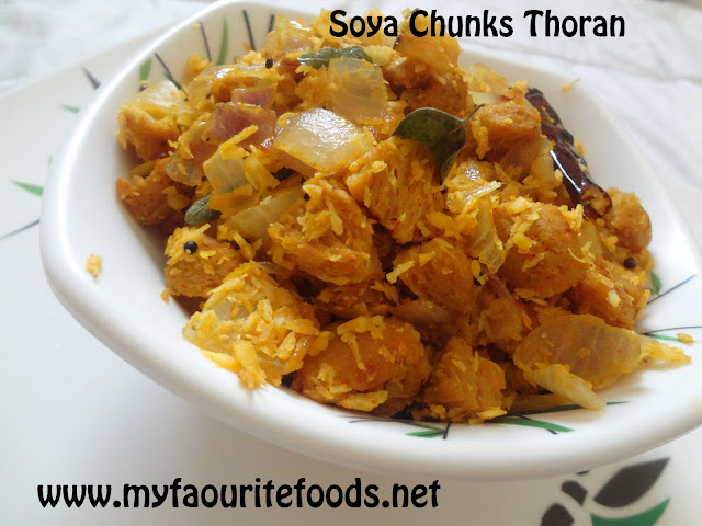 Soya Chunks Thoran/