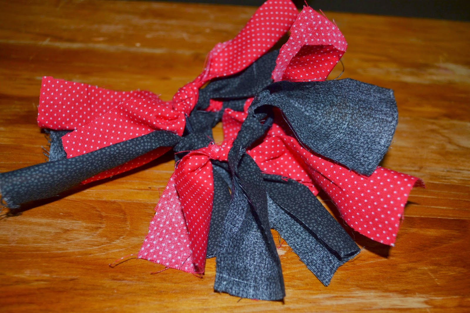 fabric tie hair how strips to