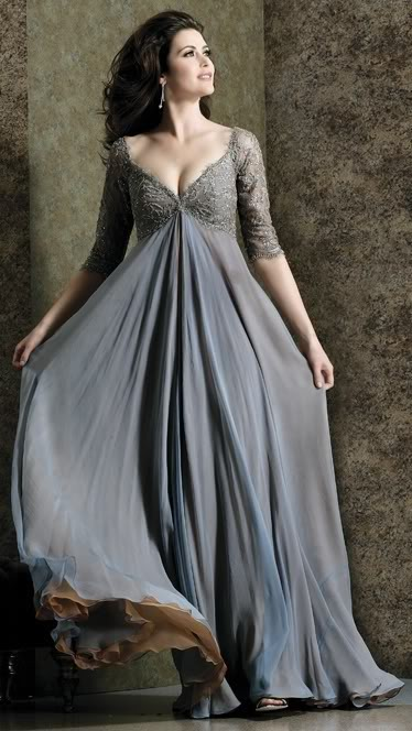 Plus Size Gray Formal Dresses 60