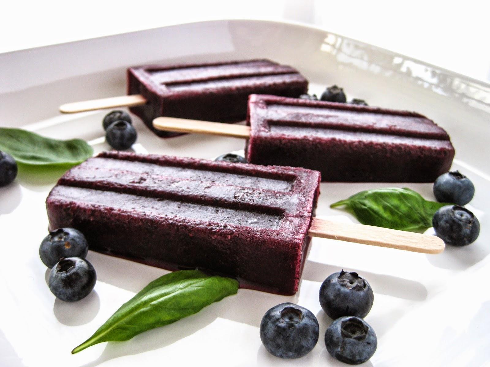 Blueberry-Basil Ice Pops Recipe — Dishmaps