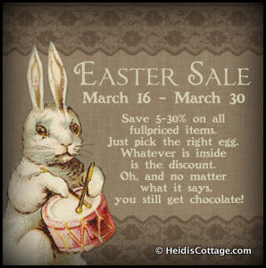 Easter Sale Heidi's Cottage Dunellen NJ 2013 gift store