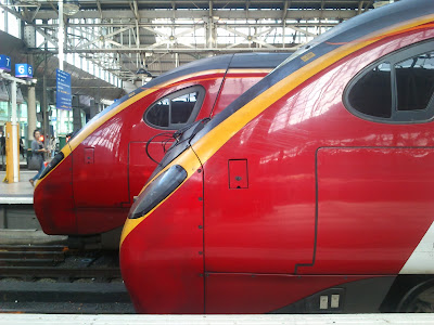 Virgin Trains Class 390 Pendolino and Class 221 Super Voyager at Manchester Piccadilly Station