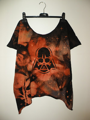 diy galaxy kosmos punk koszulka moda vader star wars