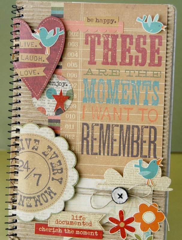 Handmade Scrapbook Cover : Glue arts simple stories makes it a snap