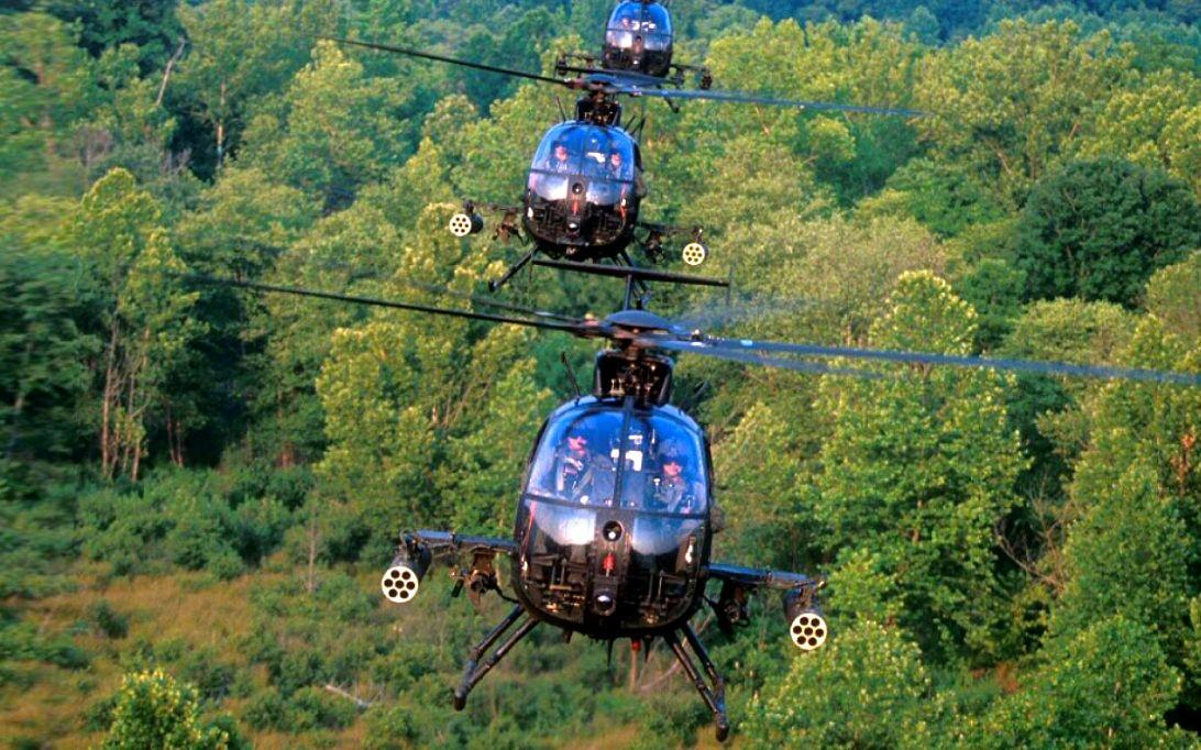 AH-6 Little Bird Helicopter Wallpaper 1