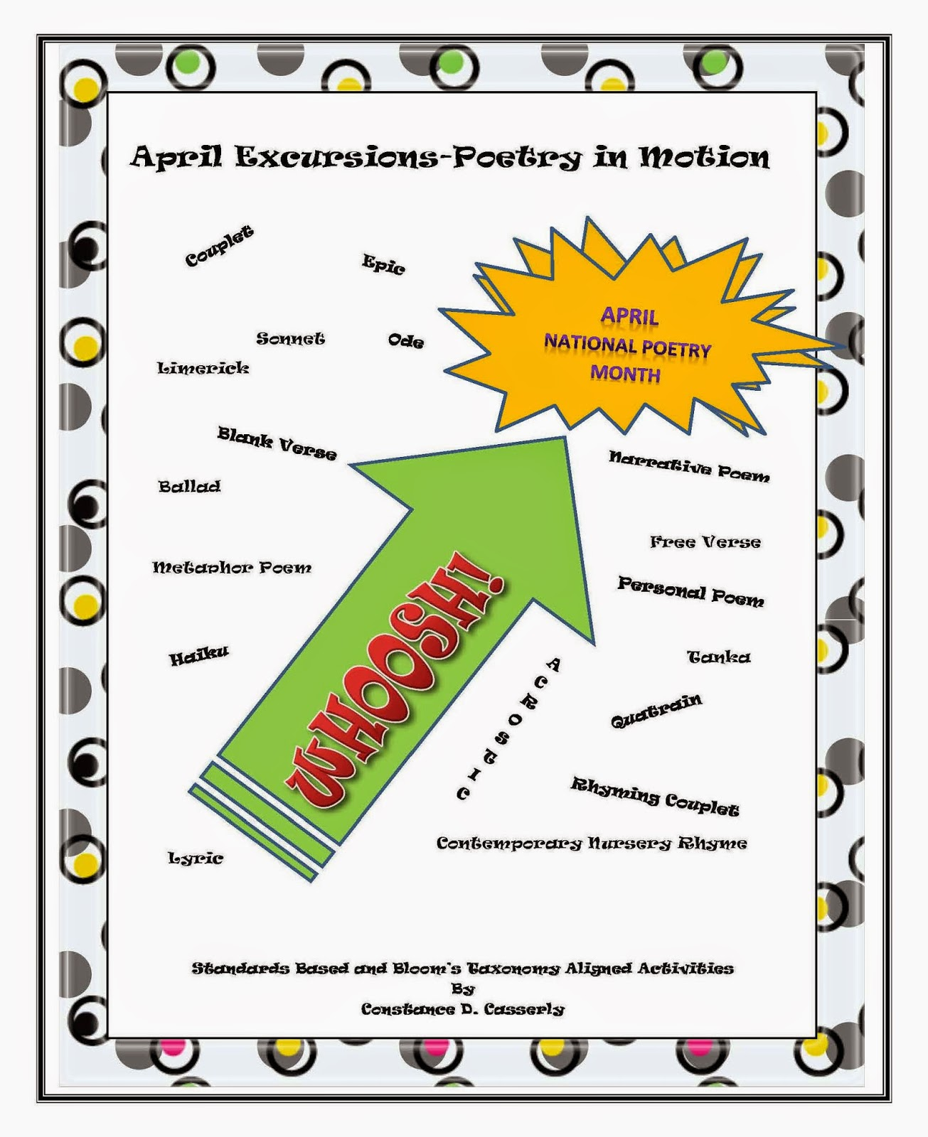 "National Poetry Month Activity- ""April Excursions-Poetry in Motion"""