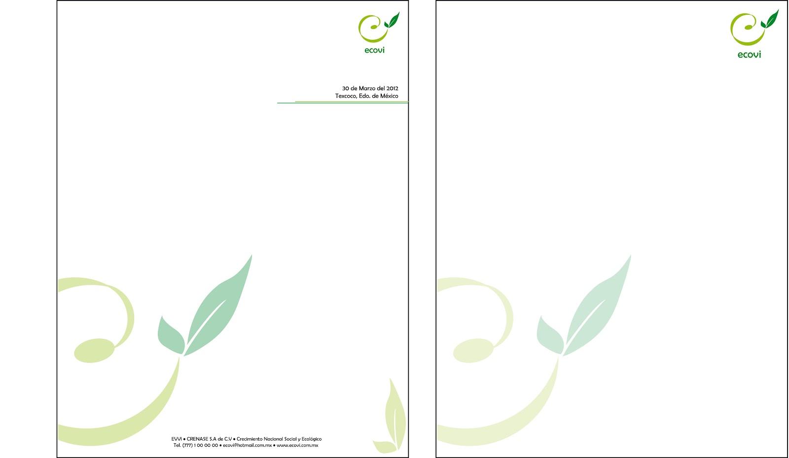 hojas membretadas gratis: