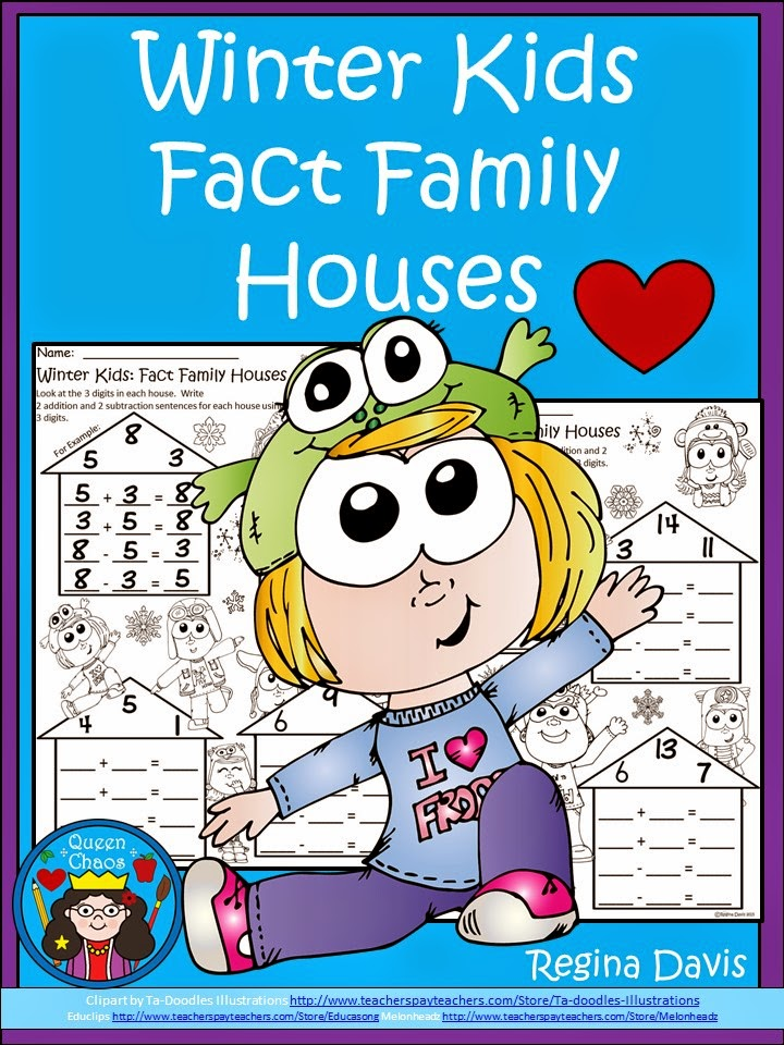 http://www.teacherspayteachers.com/Product/A-FLASH-FREEBIE-Winter-Kids-Fact-Family-Houses-1656322