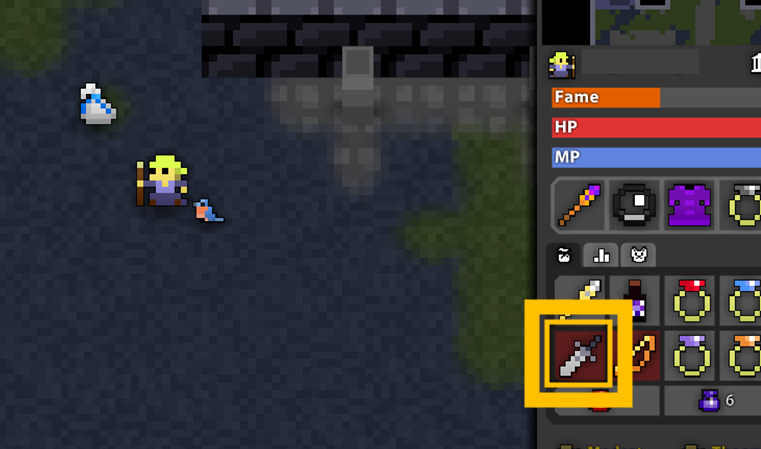 Rotmg Blue Bag A white bag that contains