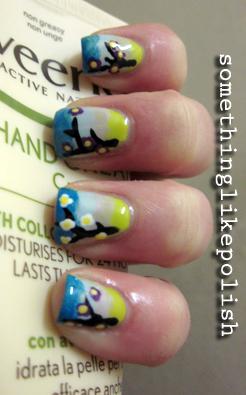 spring gradient nail art