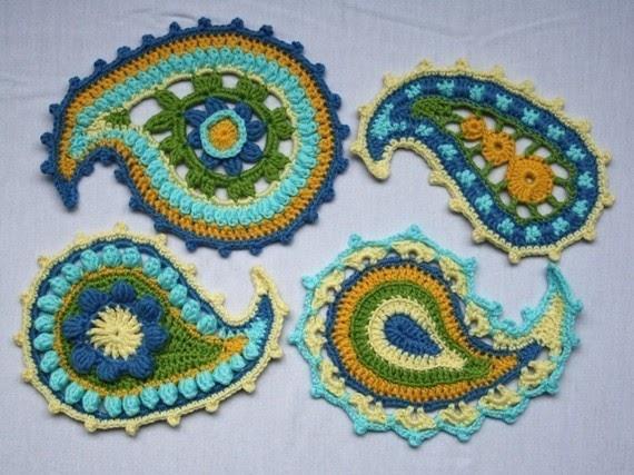 Daily Crochet Patterns : Daily Handmade Picks: Daily Handmade Pick: Paisley Crochet Pattern