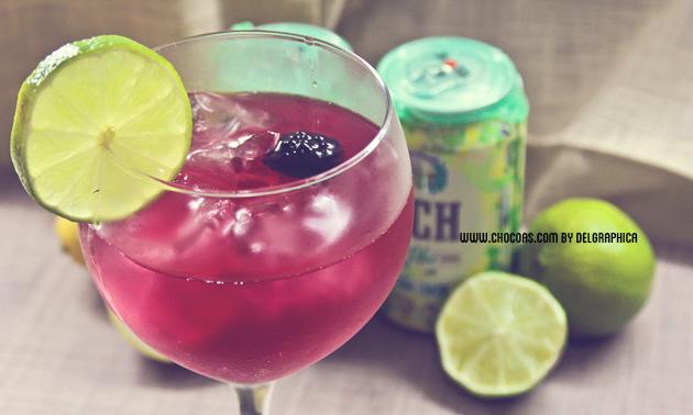 pseudo cosmopolitan con VCH sabor lima-limón