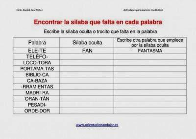 http://www.orientacionandujar.es/2014/02/13/actividades-dislexia-encontrar-la-silaba-que-falta-en-cada-palabra-dejamos-plantilla/encontrar-la-silaba-que-falta-en-cada-palabra-corregido/