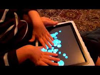 Blind Child playing iPad