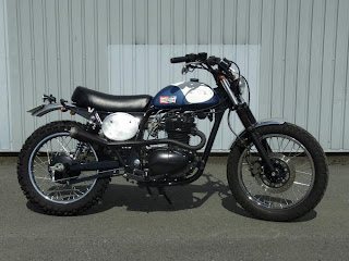 Small Sun Custom  Kawasaki 250TR scramblers   M M Motorcycles Japan