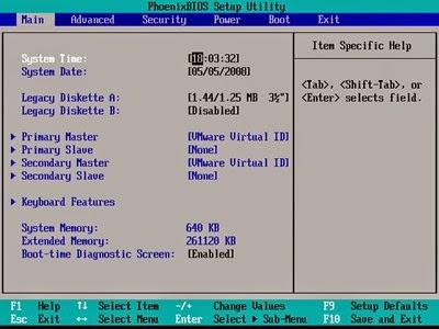 menu-BIOS