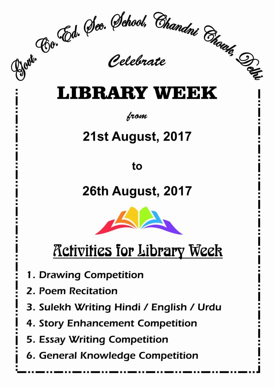 Library Activities Week
