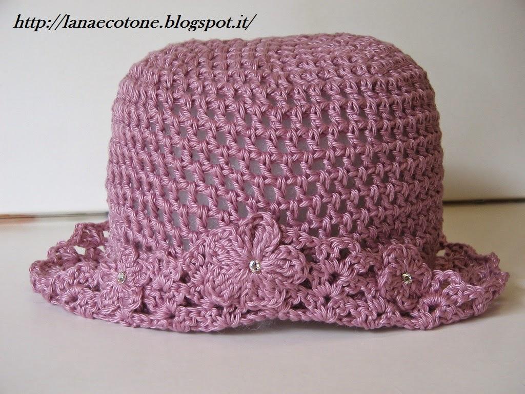 Ben noto Lana e Cotone (maglia e uncinetto): Cappello all'uncinetto BY97